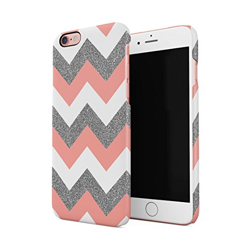 c9896aafee1 Coral Pink Chevron Glitter Pattern Tumblr Hard Thin Plastic Phone Case  Cover For iPhone 6 Plus