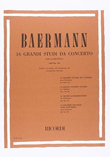 16 Grandi Studi Da Konzert. Klarinette