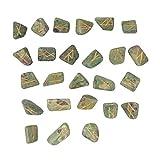 CRAFTSTRIBE Rubino Fuchsite Pietra Spritual Rune Set di cristallo naturale della pietra preziosa Tumble 25 Pc