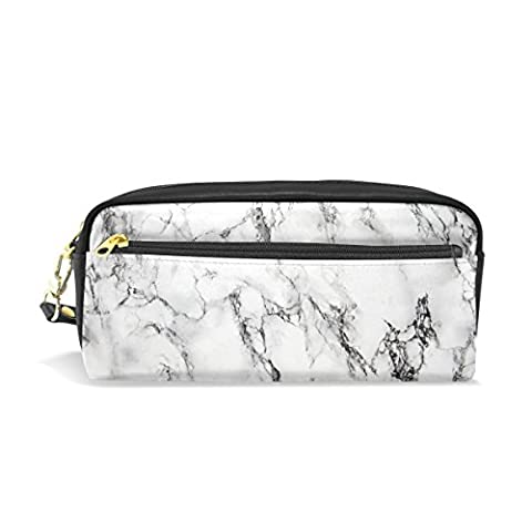 Pencil Case, Pen Bag Makeup Pouch Wallet Large Capacity Marble Waterproof of Students or Women