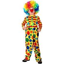 Disfraz Payaso Cosplay Traje de Halloween de Niños, Niñas para Fiesta Carnaval, Navidad, Actuación (Medium para 110 - 120)