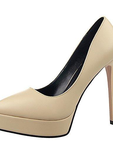 WSS 2016 Chaussures Femme-Extérieure / Bureau & Travail / Soirée & Evénement-Noir / Blanc / Gris / Bordeaux / Amande-Talon Aiguille-Talons / Bout almond-us8 / eu39 / uk6 / cn39