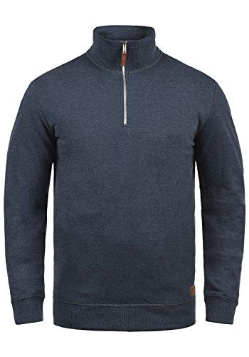 Blend Aliere Herren Sweatshirt Pullover Troyer Pulli Mit Stehkragen, Größe:M, Farbe:Navy (70230)