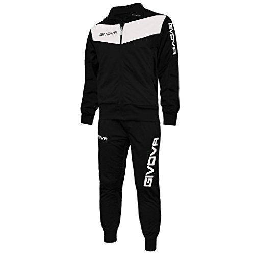 Givova Herren Visa Trainingsanzug, Mehrfarbig (schwarz/weiss), XL