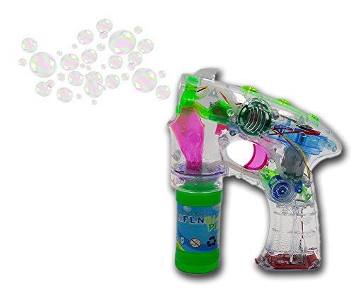 ☺ Brigamo 8188 – 5 x Seifenblasenpistole Party Set mit LED Licht OHNE nervigen Sound! Ideal für Party, Geburtstag oder Hochzeit ☺ - 2