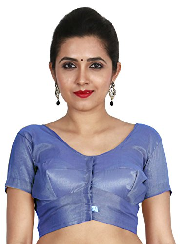 JISB Stitched Readymade Tissue blouse, color Blue (XXL-40)