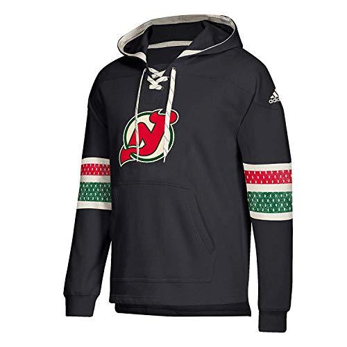 adidas New Jersey Devils Vintage NHL Jersey Hoodie Schwarz, S