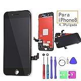 Ibaye LCD Pantalla Táctil Reemplazo para iPhone 8 Negro De Marco Digital Un Conjunto Completo De Herramientas y Montaje De Vidrio Protector 4.7(A1863,A1905,A1906)