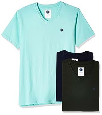 Amazon Brand- Symbol Men's T-Shirt (Pack of 3) (SS17PLPO3V6_L_Multicolor6)