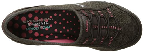 Skechers Breathe-easyallure, Baskets Basses femme Chocolate/Taupe Mesh/Brown/Coral Trim