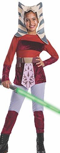 Star Wars Ahsoka Kostüm für Kinder, Größe:S (Clone Wars Halloween Kostüme)