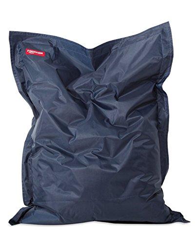 Roomox Original Sitzsack-180x140cm-für drinnen & draußen Kingsize Sitzsack, Stoff, Navy - Dunkelblau, 180x140x30 cm