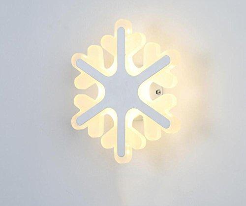 DENG Appliques Flocon de Neige Acrylique personnalité Moderne LED Abat-Jour Éclairage Intérieur Chevet Restaurant Chambre Salon