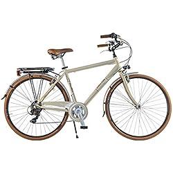 Via Veneto by Canellini Bicicleta Bici Citybike CTB Hombre Vintage Retro Dolce Vita Aluminio Nata Beige (50)