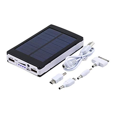 Elviray 20000mAh Tragbares Not-Super-Solar-Ladegerät mit Zwei externen USB-Akkus für Mobiltelefone und Tablets (Automobil-solar-ladegerät)