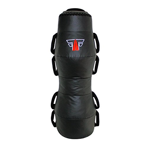 FOX-FIGHT MMA Dummy 100cm 22 kg Professionelle Hochwertige Qualität Box Dummy Wurfpuppe Boxpuppe Boxsack Sandsack Training Grappling Sparring Muay Thai Kickbox Freefight Kampfsport BJJ (Dummy Mma Grappling)