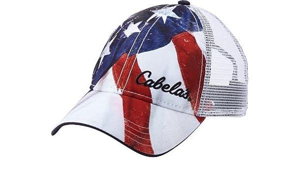 Cabela s Men s Flag Cap - White (One Size Fits Most)  Amazon.co.uk  Kitchen    Home 67a0c5940f1