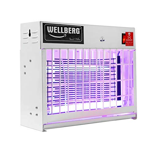 Wellberg Insect Killer 20W Slim Flying Insect Killer with [1 Year ] UV Tube Insect Catcher Bug Zapper Repellent Machine with HIGH Voltage Current Rectifier Electric System