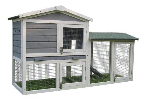 BUNNY BUSINESS The Grove Spearmint Double Decker Rabbit/ Guinea Pig Hutch and Run, and Cover 5