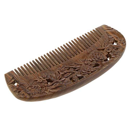 Tubayia Damen Holzkamm Haarkamm Antistatische Holz Haar Massage Kamm Taschenkamm