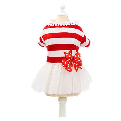 Jcloris Pet Puppy Dog   Pettiskirt Wedding Dress Skirt Teddy Bear Small Dog Cat Pet Thin Section@Groß Rot_XL (Der Rote Wedding Dress Kostüm)