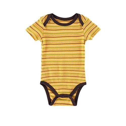 Kinderkleidung, Yanhoo Neugeborenes Baby Jungen Mädchen All-Match Wild Stripe Kletterkleid Strampler Overall Outfits Kleidung (67, Gelb)
