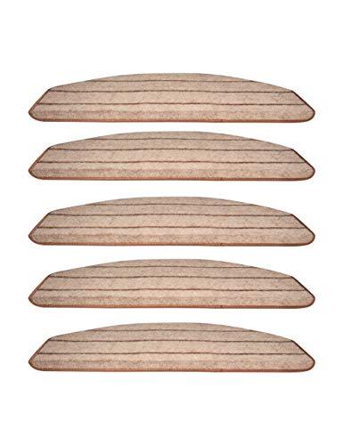 besbomig Antidérapant Plancher Escalier Protecteur Tapis Modern Home Auto-Adhésif Escalier Tapis Bande Mats - marchettes d'escalier Surface Confortable 65 * 24cm