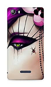 Amez designer printed 3d premium high quality back case cover for Micromax Canvas 5 (E481) (Girly 1)