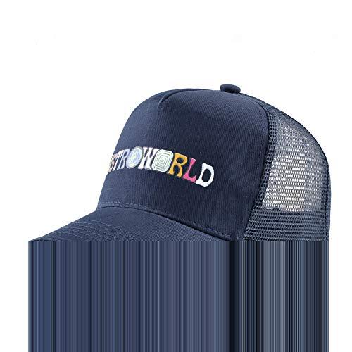 Preisvergleich Produktbild sdssup Männer und Frauen Farbe Baseball Cap geometrisches Design Retro Buchstaben Ente Zunge Sonnenhut Navy M (56-58cm)