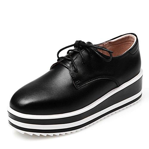 Casual Chaussures De Printemps,Chaussures De Plate-forme Vague Coréenne,Chaussures Femme,Épaissir Chaussures Plate-forme,Leather Chaussures Plates B