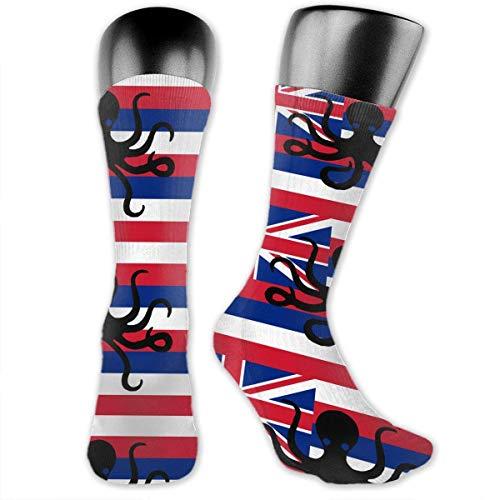 CVDGSAD Octopus Hawaii State Flag Socks Men & Women Sport Compression Sock for Baseball Travel
