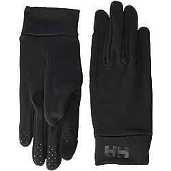 Helly Hansen Fleece Touch Glove Liner Guantes táctiles Unisex con Forro Polar para Invierno, Hombre, Negro, Large