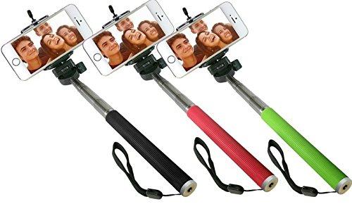 Braccio per Selfie allungabile con supporto smartphone - 100 cm con impugnatura in gomma