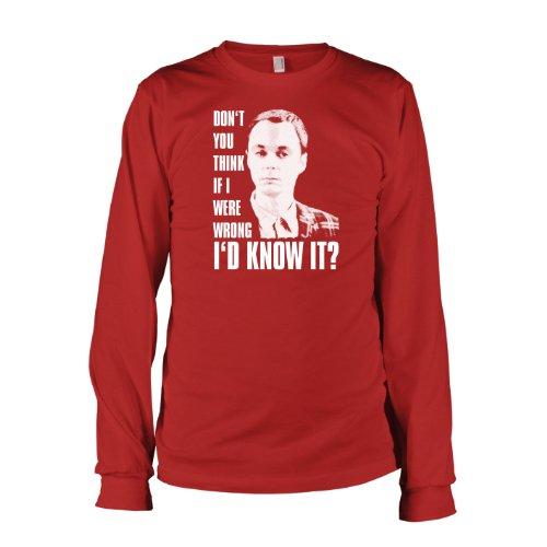 TEXLAB - TBBT: Don't you think... - Langarm T-Shirt Rot