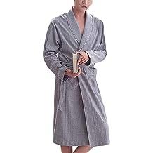 HX fashion Pijama De Algodón De Los Hombres Pijama Suave Tamaños Cómodos Y Cómodo Albornoz Y