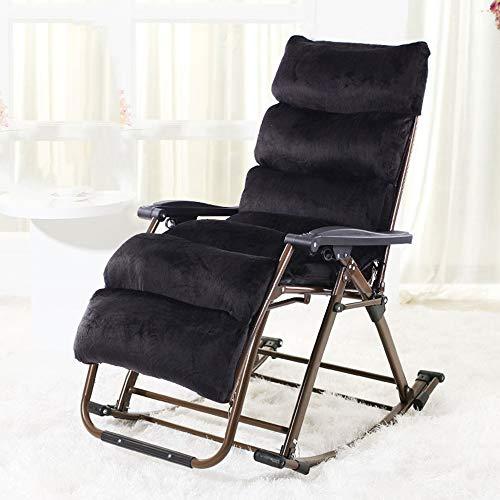 HAIZHEN Chaise longue Rocking Lounger, chaises longues de jardin Garden Lounger pour le camping, la plage, le jardin, le balcon, le bureau et le salon pour cour extérieure