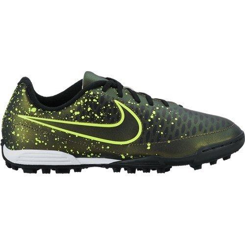 Nike Jr Magista Ola Tf, Chaussures de Sport Fille, Argent Jaune / Vert / Noir (Dark Citron / Drk Citron-Blk-Vlt)