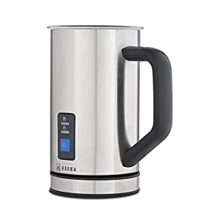 Heska Electric Milk Frother - Extra 4 Whisks Included -Silent Operation,Premium Brushed Stainless Steel Automatic Dual Function for Hot and Cold milk - Latte Cappuccino Milk Frother Machine - Latte Milk Frother Jug - Perfect for Latte & Cappuccino, Babycc