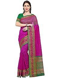 G Stuff Fashion Women Cotton Silk Saree With Blouse piece_TA-45_Pink Elephant saree