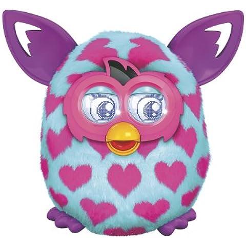 Hasbro - Furby Boom Blue Heart Pink con los oídos púrpuras [Inglés - EE.UU. Import]