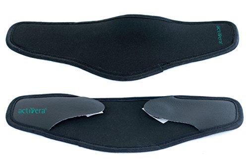 2 Stück Armschalenpolster für Unterarmgehstützen mit Klettverschluss schwarz (Krücke Arm)