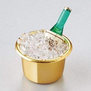 efco-Miniatur Champagner Flasche in Kühler, Mehrfarbig, 3,5cm