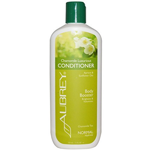 Aubrey Organics Chamomile Luxurious Conditioner With Aloe Vera, Lavender, Apricot, Vitamin E, Carrot and Hops, All Natural and Organic, Sulfate Free, 11 fl. oz. (Pack of 2)