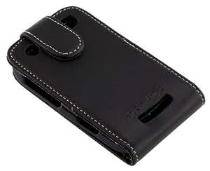 Pro-Tec Executive Leather Vertical Flip Case Cover for BlackBerry 9360 - Black