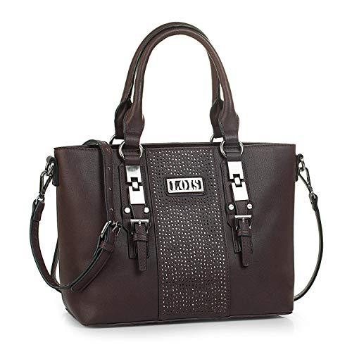 Lois - Bolso de Mujer Grande Tipo Shopping. Cuero PU con Hebillas. Resistente Cómodo y Práctico...