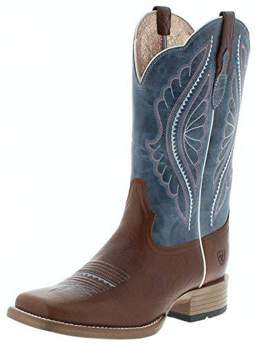 Ariat Damen Cowboy Stiefel 25032 Primetime Westernreitstiefel Braun 38.5 EU (Für Stiefel Sporen Männer)