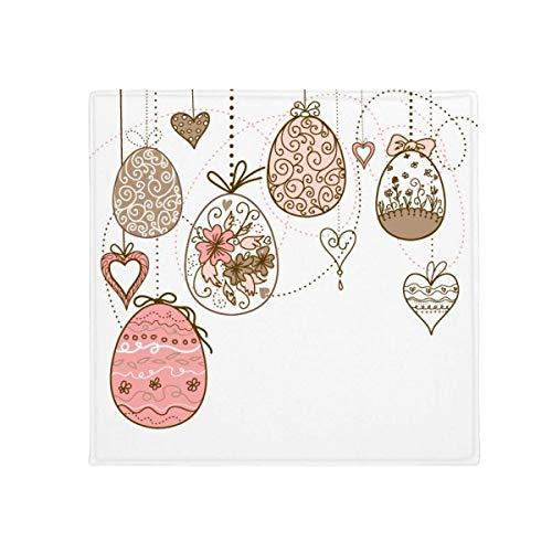 DIYthinker Ostern Religion Cute Pink zum Aufhängen farbigen Ei Anti-Rutsch Boden Pet Matte quadratisch Home Kitchen Tür 80cm Geschenk