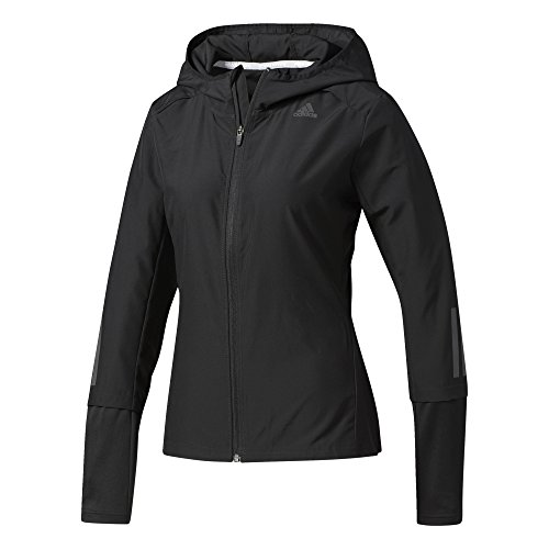 adidas Damen Response Hooded Wind Jacke, Black, L