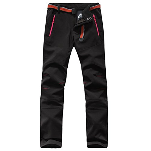 Softshellhose Damen Winter Wasserdicht Funktionshose Zip Off Strech Outdoorhose Trekkingho