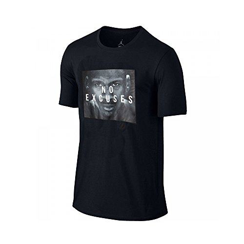 Nike Dri-Fit-Michael Jordan Making Excuses Tee T-Shirt, Herren Black (Schwarz)